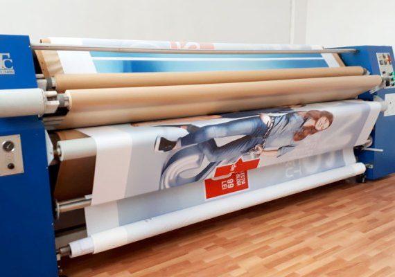 Imprimare textile în rolă, direct sau prin sublimare